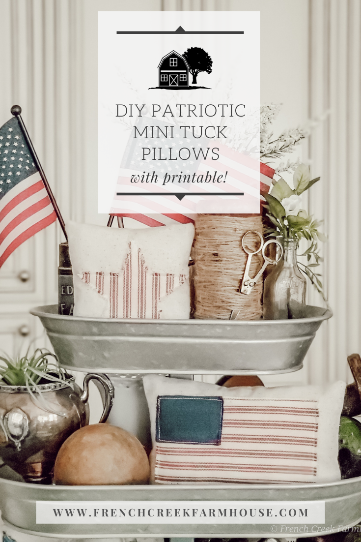 Simple to make mini-pillows are perfect for tiered trays and more!