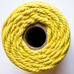 cotton cord yellow