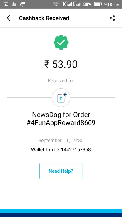 4 fun app payment proof
