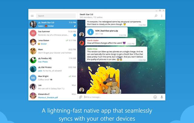 تطبيق تيليجرام سطح المكتب لنظام التشغيل Windows 10 محدث بميزات جديدة