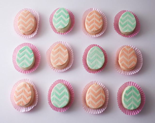 Mini Easter Egg Cakes #dessert #cake