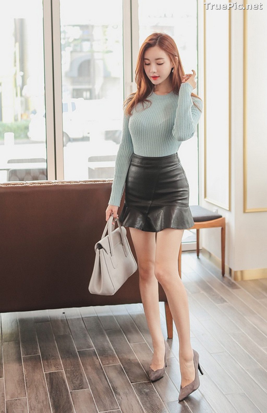 Image Korean Fashion Model – Hyemi – Office Dress Collection #3 - TruePic.net - Picture-6