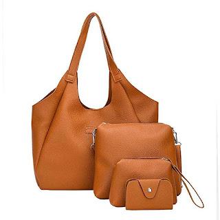 Set di borse a tracolla a quattro pezzi in pelle sintetica per donna