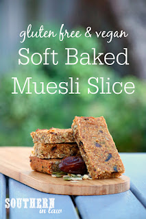 Gluten Free Soft Baked Muesli Bar Slice Recipe