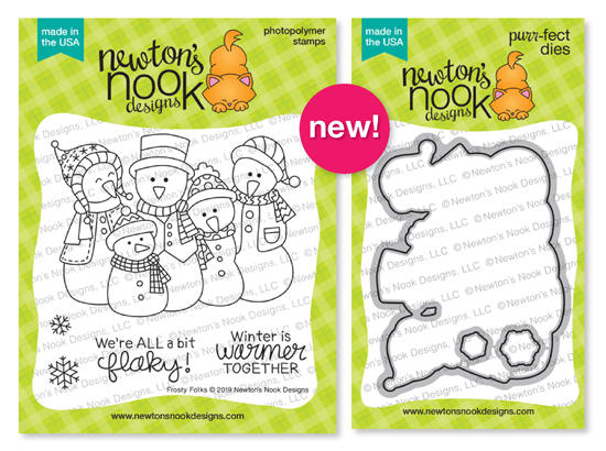 Frosty Folk | Snowman Family Stamp Set by Newton's Nook Designs #newtonsnook
