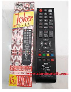 Cara Setting kode Remote Joker Untuk Semua TV