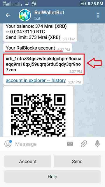tampilan aplikasi telegram @RaiWalletBot - godosome.net