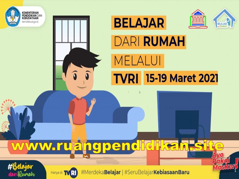 Jadwal BDR Di TVRI Tanggal 15-19 maret 2021