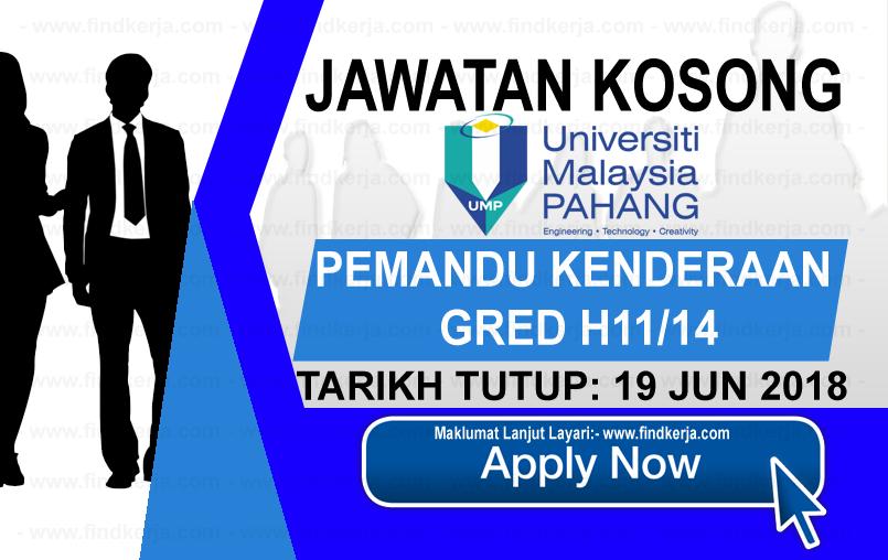 Jawatan Kerja Kosong UMP - Universiti Malaysia Pahang logo www.findkerja.com jun 2018