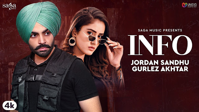Jordan Sandhu - INFO SONG LYRICS | Gurlez Akhtar | Snappy | Rav Hanjra | Latest Punjabi Song 2020 | Saga Music Lyrics Planet