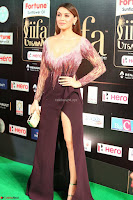 Hansika Motwani in Glittering Deep Neck Transparent Leg Split Purple Gown at IIFA Utsavam Awards 47.JPG
