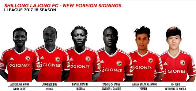 Shillong Lajong FC - Transfers