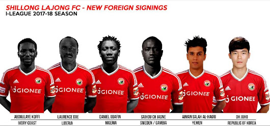 Shillong Lajong announces signing of six foreigners for the I-League
