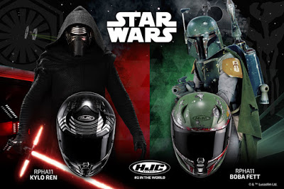 "Use ""The Force"" To Rule The Road With These Star Wars Themed HJC Motorcycle Helmets !"