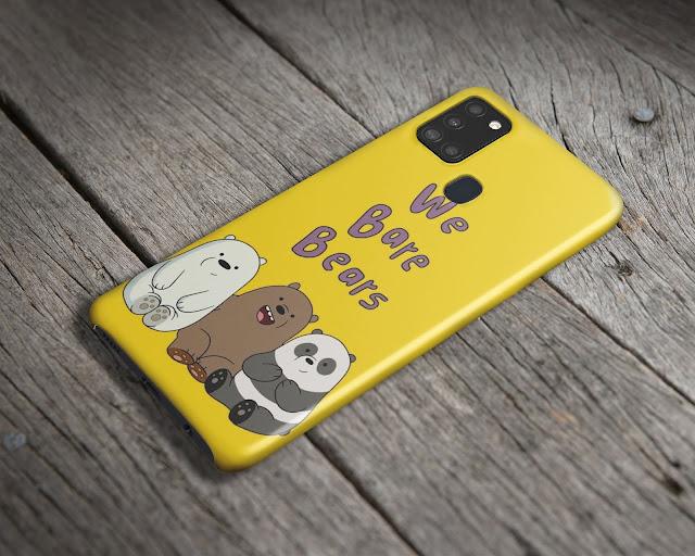 Mockup Case 3D Samsung Galaxy A21s Gratis