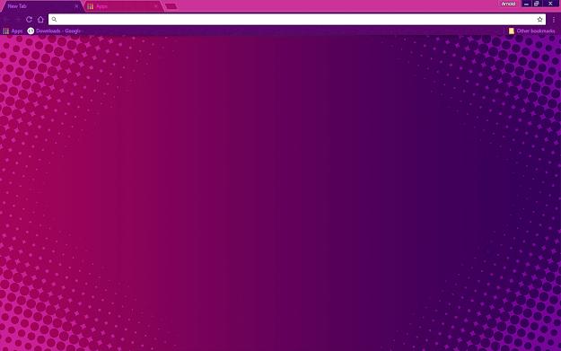 Purple Halftone Google Chrome Theme