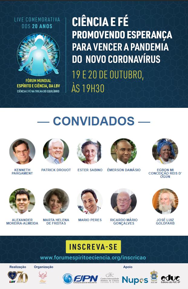 Os Especialistas discutem o papel da Ciência e da Religião frente a pandemia da covid-19