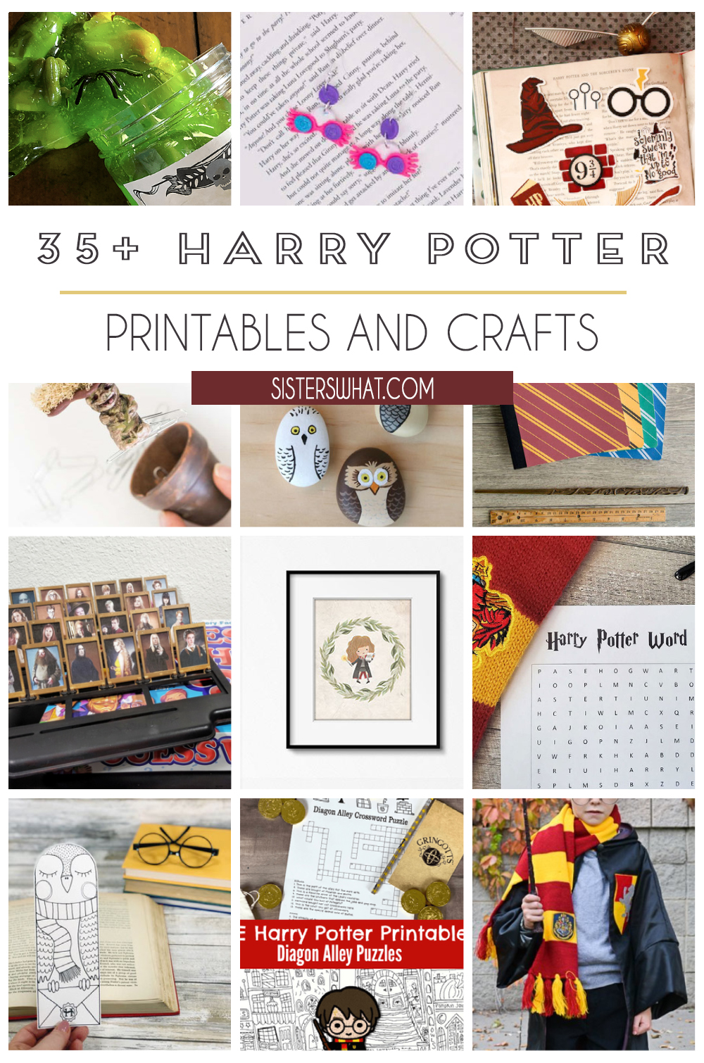 harry potter free printables and crafts
