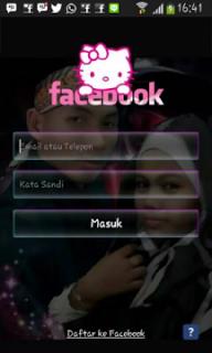 Facebook MOD : Facebook Transparan MOD Hello Kitty Apk