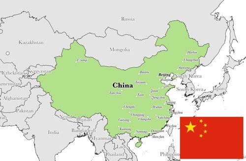 peta wilayah china