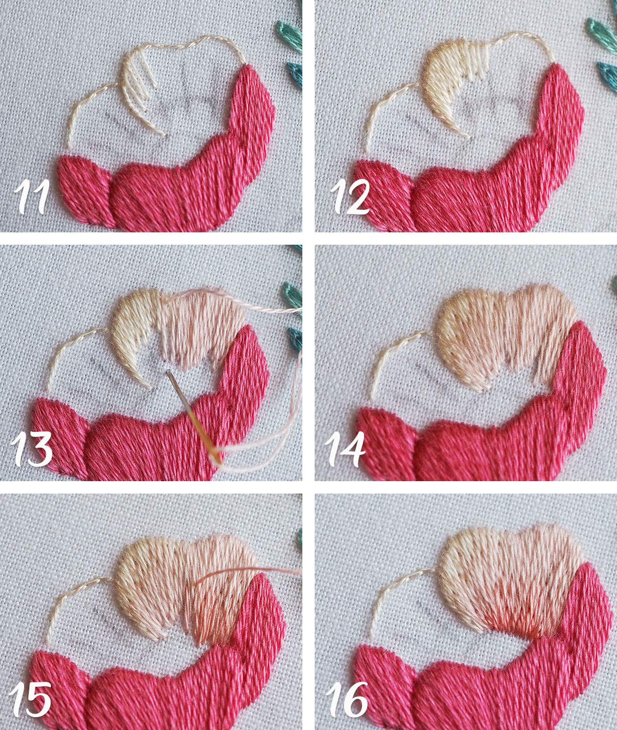 embroidery step by step