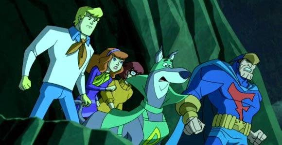Falcão Azul e Bionicão com Scooby-Doo