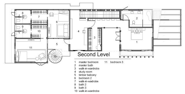 แปลนบ้าน 3 ชั้น ชั้น 2