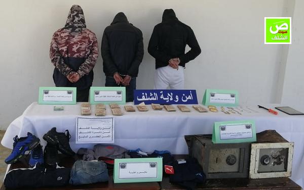 بالفيديو ↔ شرطة الشلف تطيح بشبكة تمتهن سرقة المنازل بالشلف