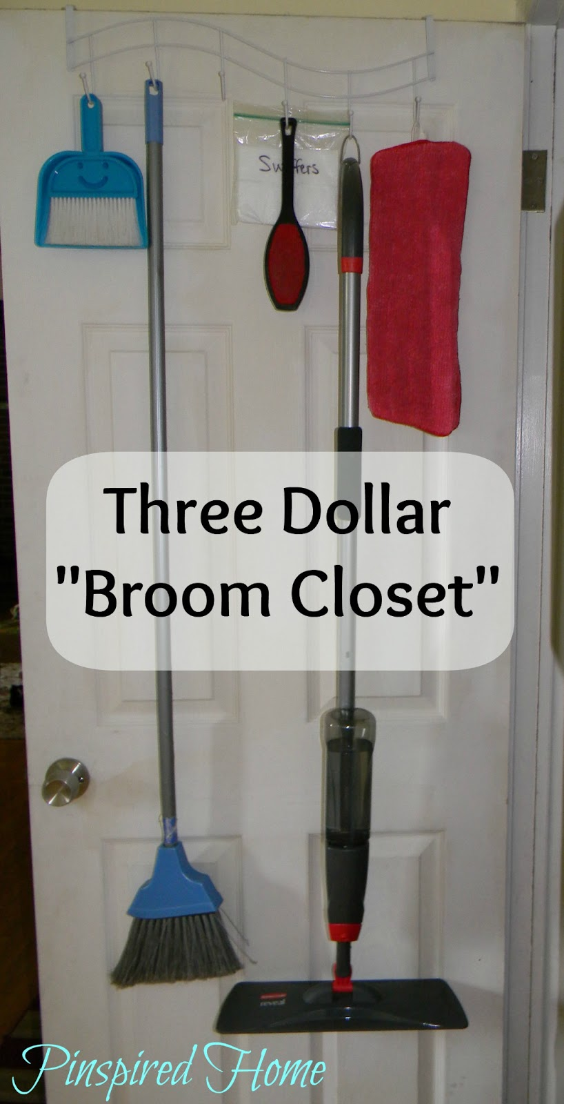 Pinspired Home Improvised Broom Closet