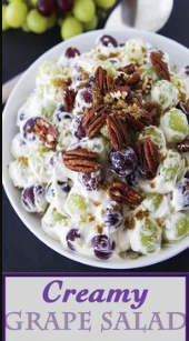This Creamy Grape Salad