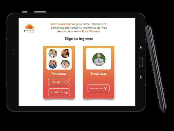 Captura de pantalla de Porvenir - Control de fondos de pensiones y cesantías