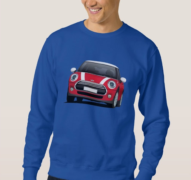 MINI Cooper S illustrations t-shirt red/white