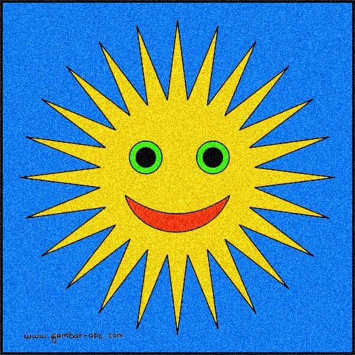 Gambar Mewarnai Matahari Sederhana  Contoh Gambar Mewarnai