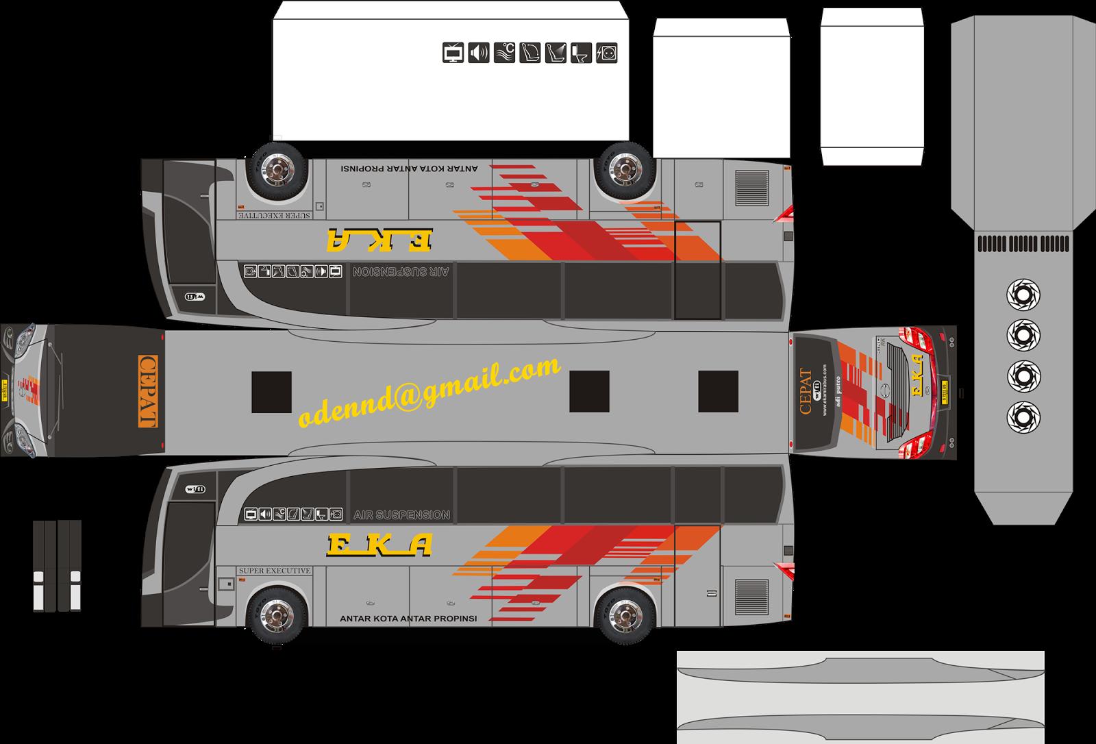 Papercraft Bus Rumahbis