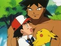 Ash conociendo a bruno