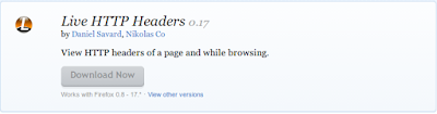 Mozilla Firefox Addons Live HTTP Headers