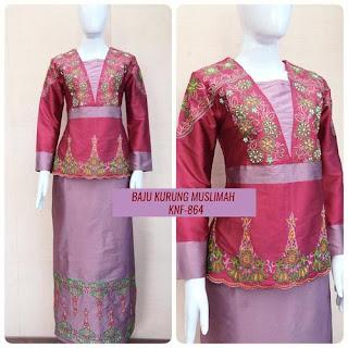 model baju batik muslim modern terbaru