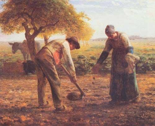 Жан Франсуа Милле - Посадка картофеля