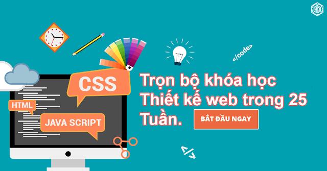 Trọn bộ khóa học thiết kế web trong 25 tuần
