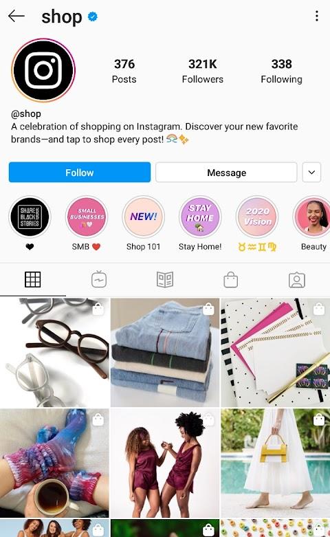 Instagram @shop - VivekTech World