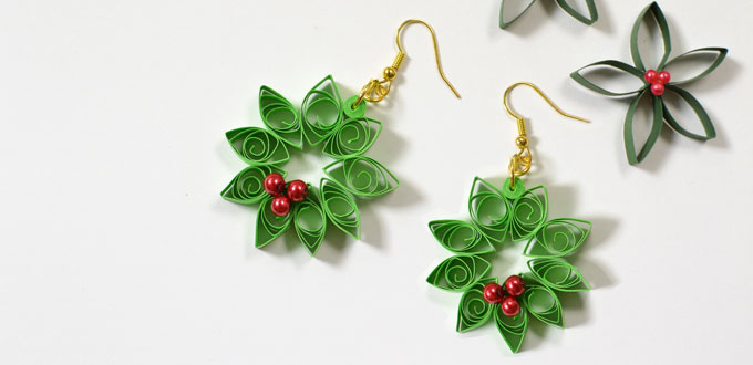 f3419e15e This pair of green flower earrings is very easy to make and I just finish  them within 15minutes. Hope you love them and make ones for yourself.