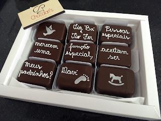 convites chocolate