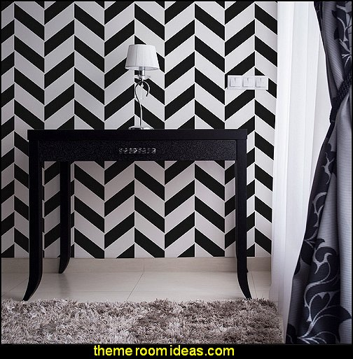 Herringbone Chevron Pattern Wall Stencil  chevron decorating
