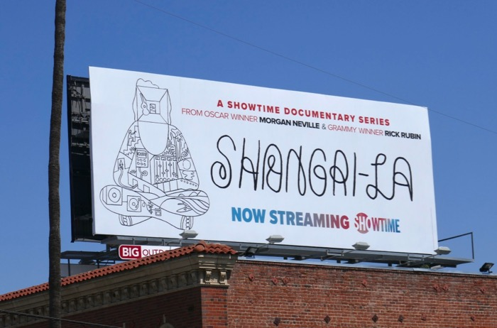 Shangri-La documentary billboard