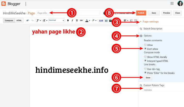 blogspot-blog-par-page-create-kaise-kare