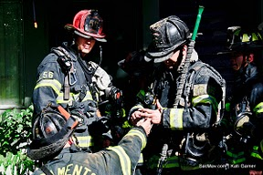 Checking Firefighter CO