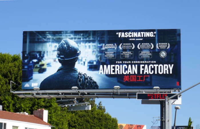 American Factory consideration billboard