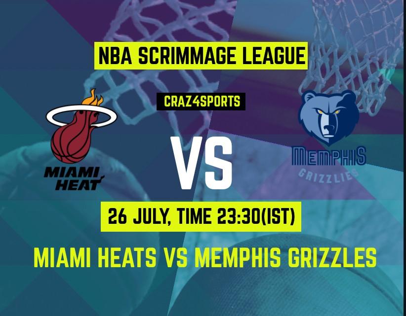 MIA VS MEM Dream11 prediction | Miami Heat Vs Memphis Grizzlies | NBA Scrimmage | Top picks | Previous Match Score | Players stats | Dream Team