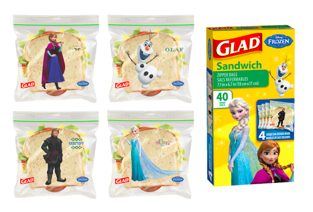 GLAD's New Disney-Themed Sandwich Bags - Frozen