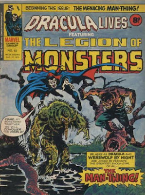 Marvel UK, Dracula Lives #62, Legion of Monsters